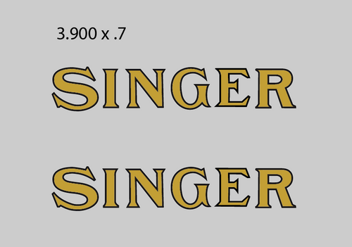 Singer Industrial Restoration Decals