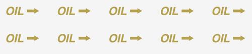Oil with Arrow Decal