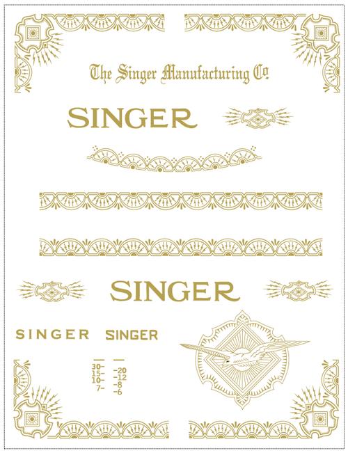 Singer 15 Class Restorations 15-86 RAF Variation Decals  SingerDecals.com