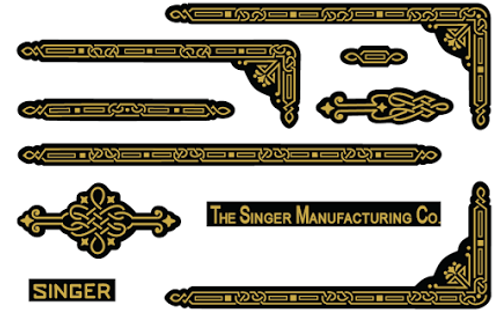 Singer 221 Enhancing Decal