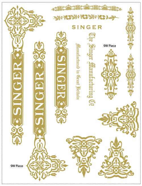 Singer 9W Celtic Restoration Decals  SingerDecals.com