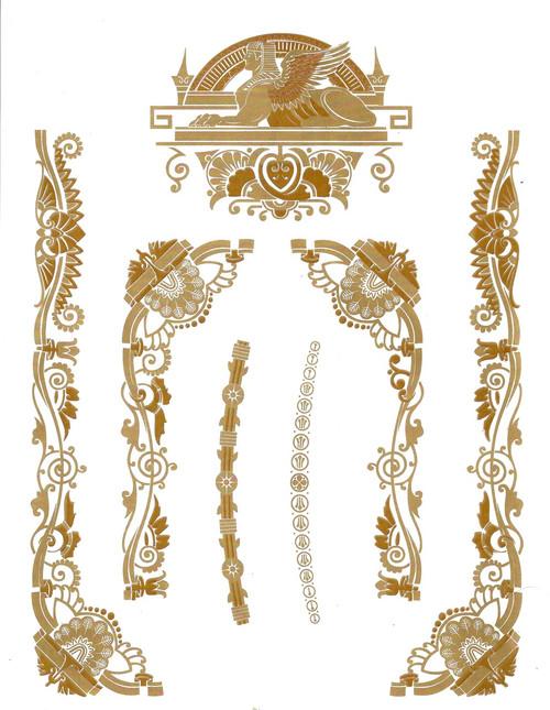 Singer 15 Class Decals for Sphinx Restorations - 2 Color  SingerDecals.com