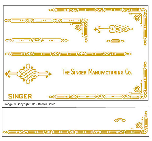 Singer 221 Featherweight AD Series Restoration  Decals