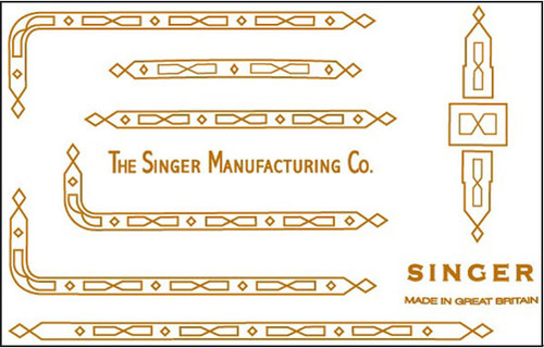Singer 221K/222 Featherweight Decals for Restorations Prism Design  SingerDecals.com