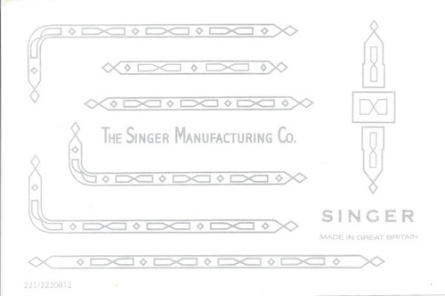 Singer 221K/222 Featherweight Decals for Restorations Prism Design Silver  SingerDecals.com