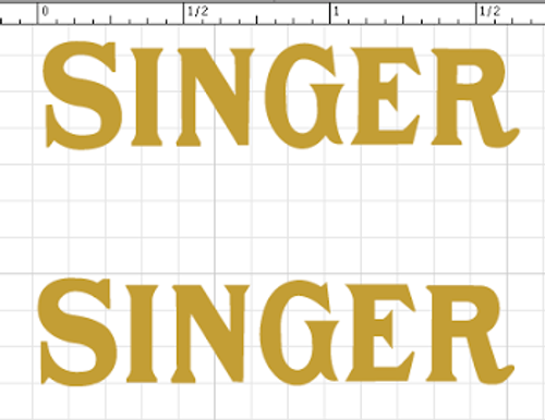 Singer 20 Toy Sewing Machine Restoration Waterslide Decals Post 1950  SingerDecals.com