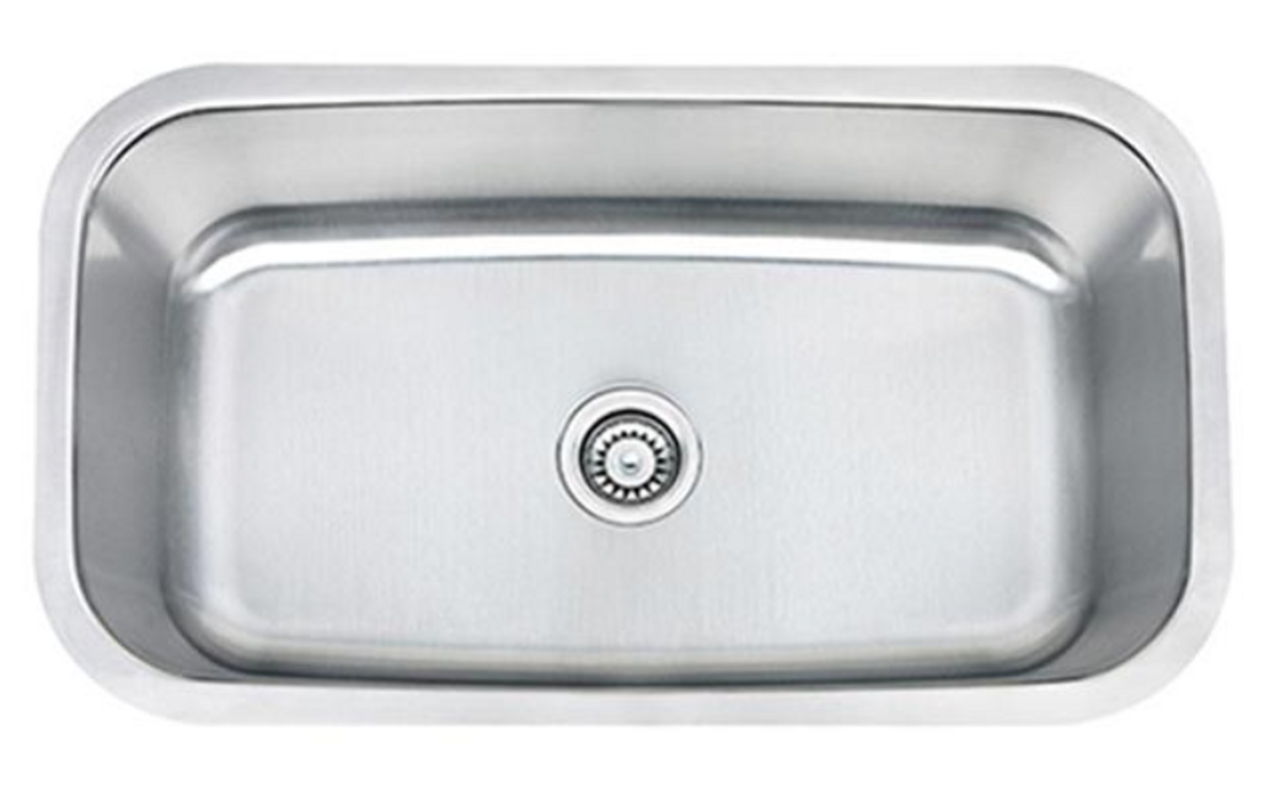 Crescent Stainless Steel Sink 30x18 Single Bowl 18g