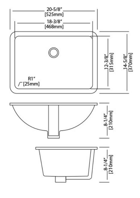 18x12w Trench Rectangle UM Lav