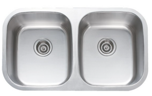 SS 50/50 Double Bowl 18G Stainless Steel Sink