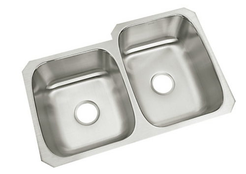 Sterling McAllister 32x21x8 18g 40/60 Kitchen Sink - Stainless