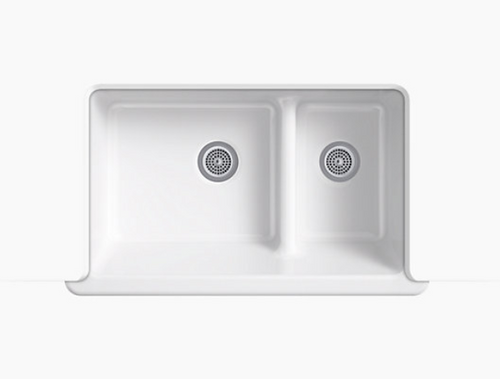 Kohler Whitehaven Smart Divide Cast Iron Apron Sink