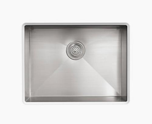 Kohler Vault 24 x 18-1/4 x 9-3/8 Under-Mount Medium Single-Bowl Kitchen Sink with no Faucet Holes