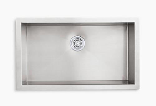 Kohler Vault 32 x 18-1/4 x 9-5/16 Under-Mount Large Single-Bowl Kitchen Sink with no Faucet Holes