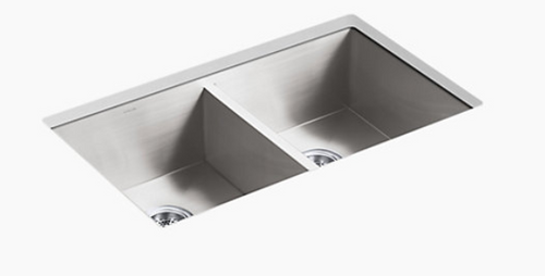 Kohler Vault 32 x 18-2/7 x 9-7/16 Under-Mount Double-Equal Kitchen Sink