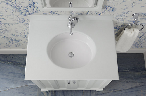 Kohler Verticyl Oval Under-Mount Bathroom Sink - White