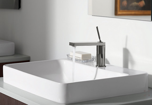 Kohler Vox vessel bathroom sink with single faucet hole