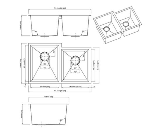Dakota Genesis Series 60/40 18g OFFSET ZERO Radius