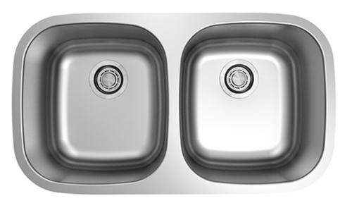 Dakota Genesis Series 50/50 18g ADA Stainless Steel Sink