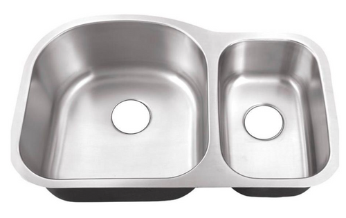 Crescent Stainless Steel Sink 70/30 Double Bowl 18g
