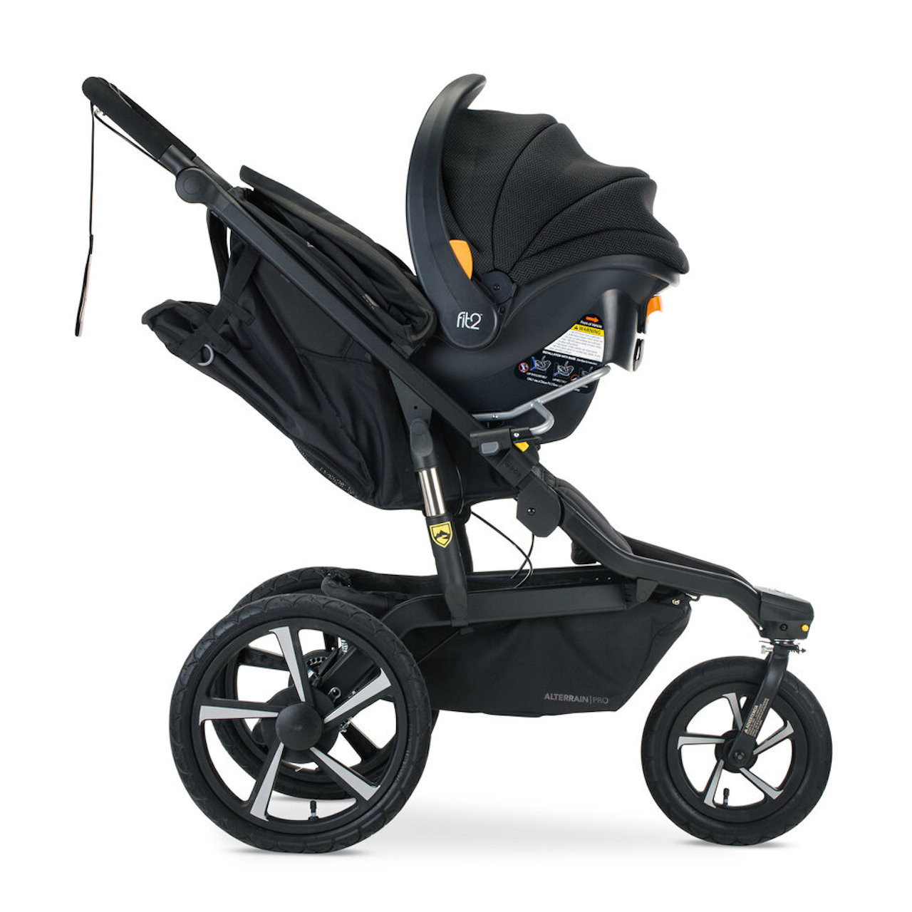 2020 BOB Single Infant Car Seat for Chicco - Installed on Stroller (side view)