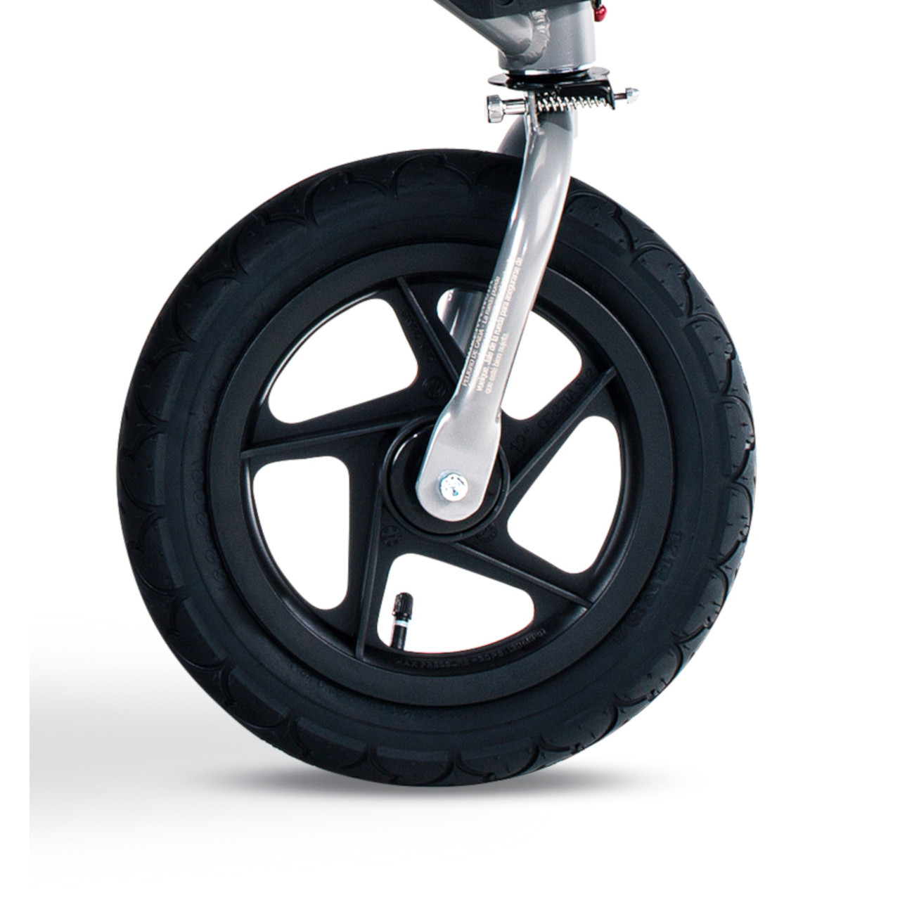 Rambler Front Wheel with Tire & Tube Installed (stroller fork not included but shown for display only)