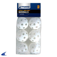 6 Pack of Baseball Wiffle Balls