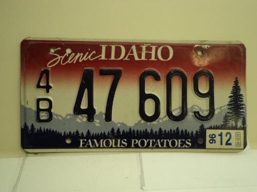 1996 IDAHO Famous Potatoes License Plate 4B 47 609