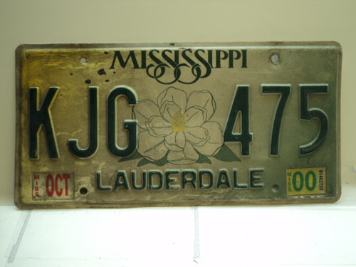 2000 MISSISSIPPI Magnolia License Plate KJG 475