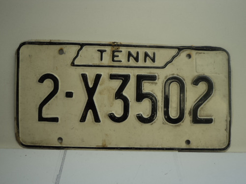 TENNESSEE License Plate 2 X3502