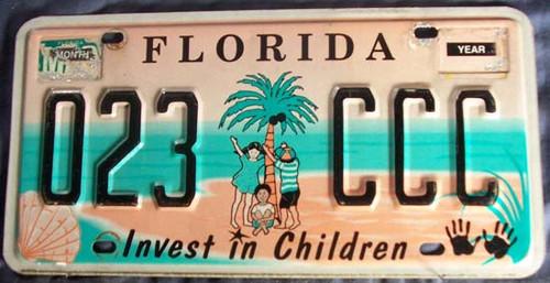 Mar Florida 023 CCC License Plate