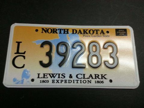 Bulk Mint NOS North Dakota Lewis & Clark License Plate