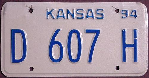 Kansas Dealer 1994 License Plate