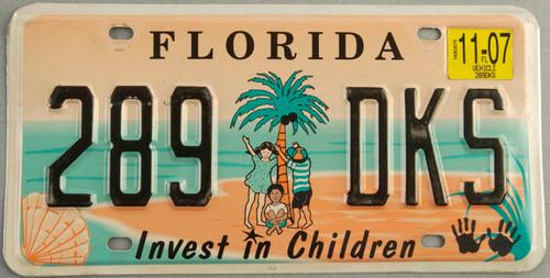 2007 Florida License Plate Invest in Children