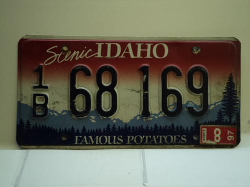 1997 IDAHO Famous Potatoes License Plate 1B 68 169
