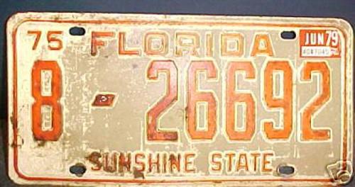 1979 Jun Volusia Co Florida 8-26692 License Plate