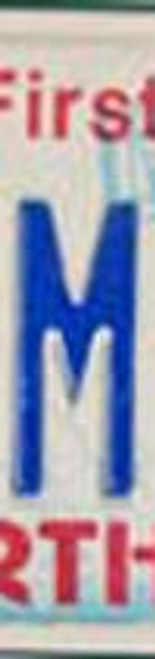 License Plate Letter M