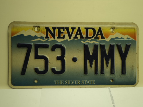 NEVADA Silver State License Plate 753 MMY
