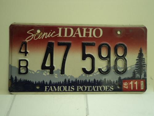 1997 IDAHO Famous Potatoes License Plate 4B 47 598