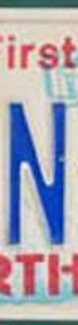 License Plate Letter N