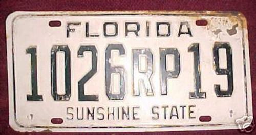 Brevard Co Florida License Plate 1026RP19