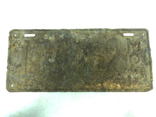 DMV Clear 1918 MISSOURI Passenger License Plate YOM Clear 184-462 MO