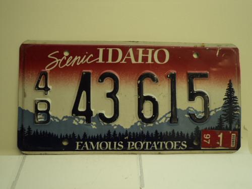 1997 IDAHO Famous Potatoes License Plate 4B 43 615