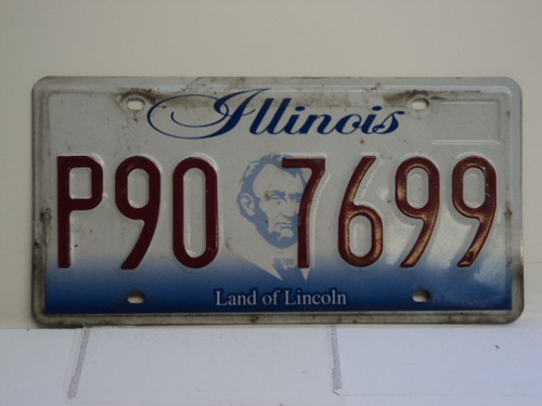ILLINOIS Land of Lincoln License Plate P90 7699