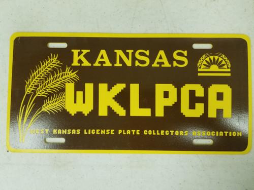 Kansas West Kansas License Plate Collectors Association License Plate WKLPCA