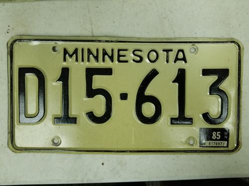 1985 Minnesota Dealer License Plate D15-613