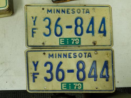 1979 Minnesota License Plate 36-844 Pair