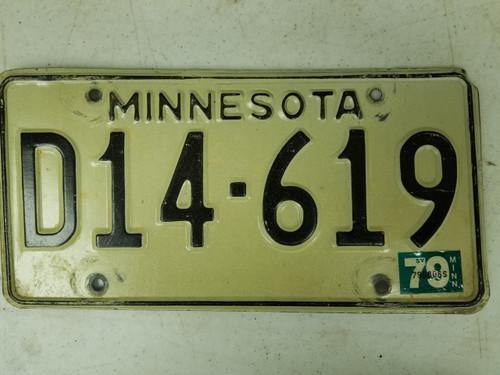 1979 Minnesota Dealer License Plate D14-619