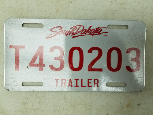 South Dakota Trailer License Plate T430203