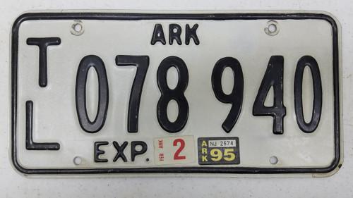 1995 ARKANSAS Trailer License Plate 078-940