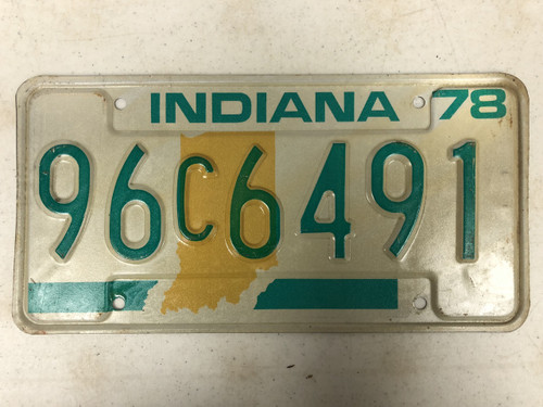 1978 INDIANA Lake County License Plate 96c6491